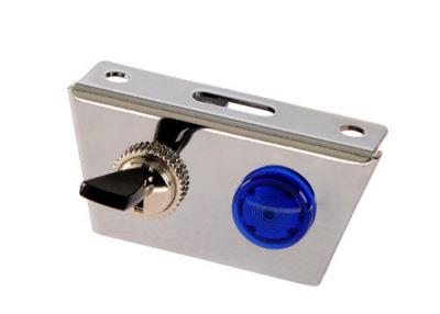 schalterplatte 1 kippschalter mit kontrollleuchte blau. Black Bedroom Furniture Sets. Home Design Ideas